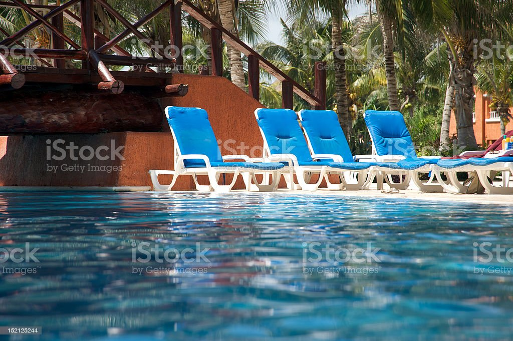 Pool chairs royalty-free stock photo