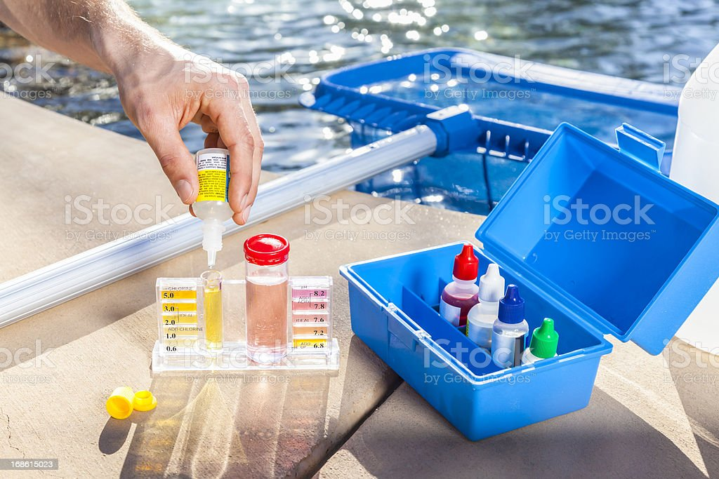 Pool Chemistry Testing stock photo