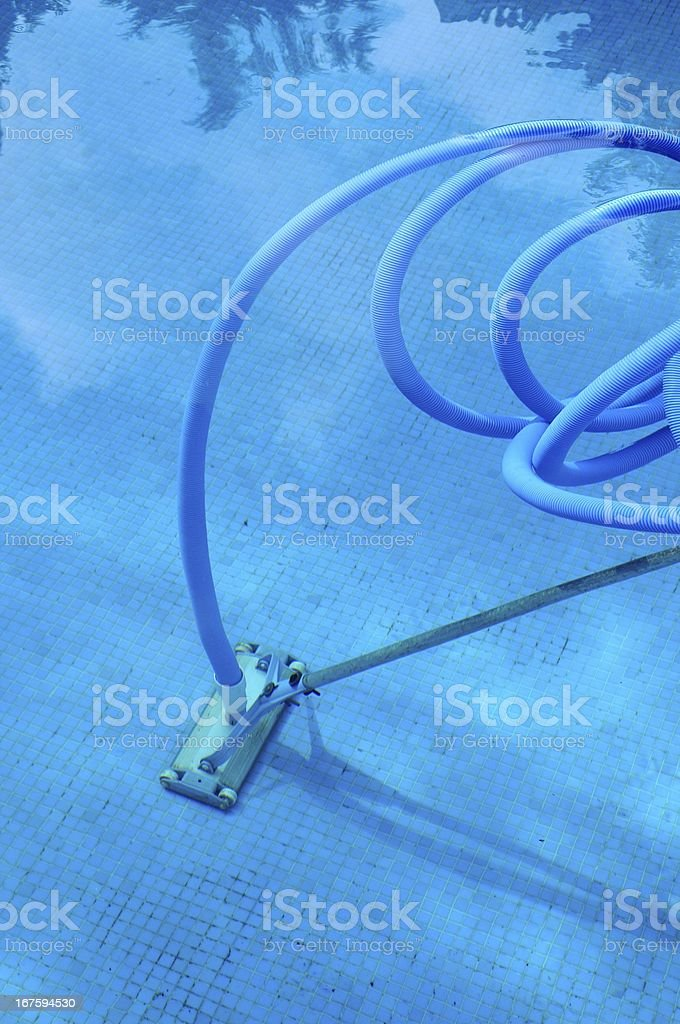 Pool cleaning equipment. stock photo