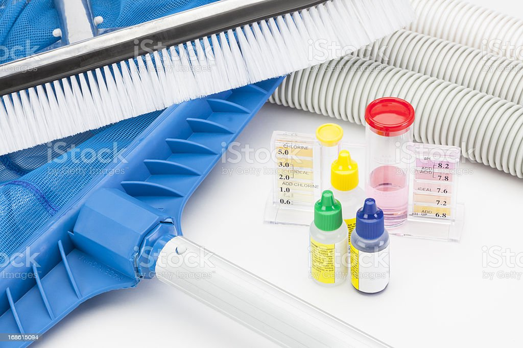 Pool Cleaning Equipment stock photo