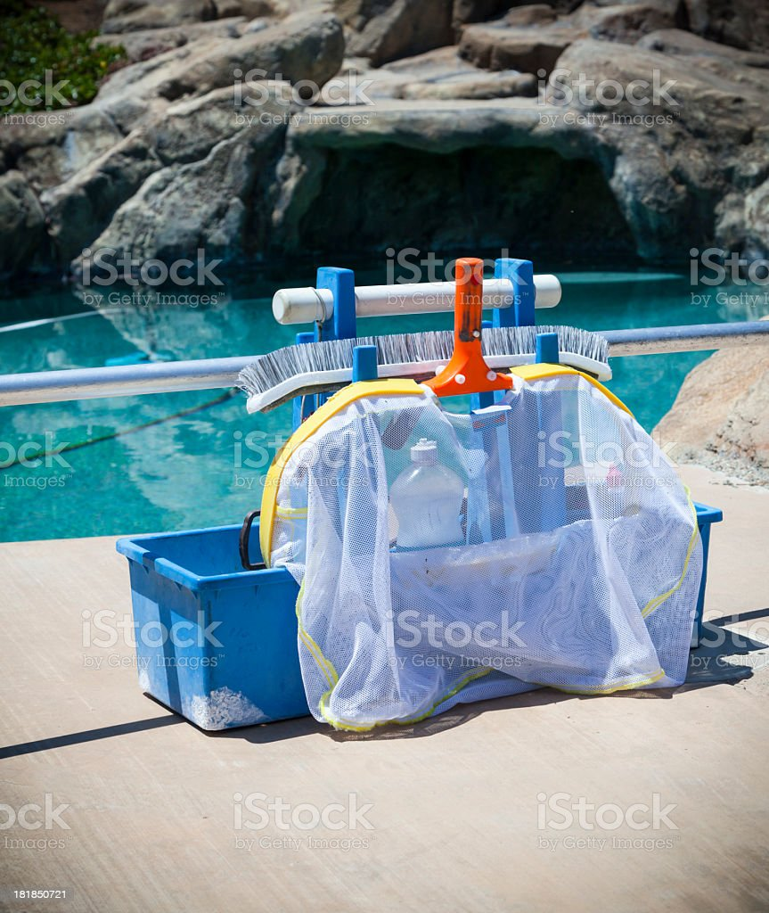 Pool Cleaning Tools royalty-free stock photo