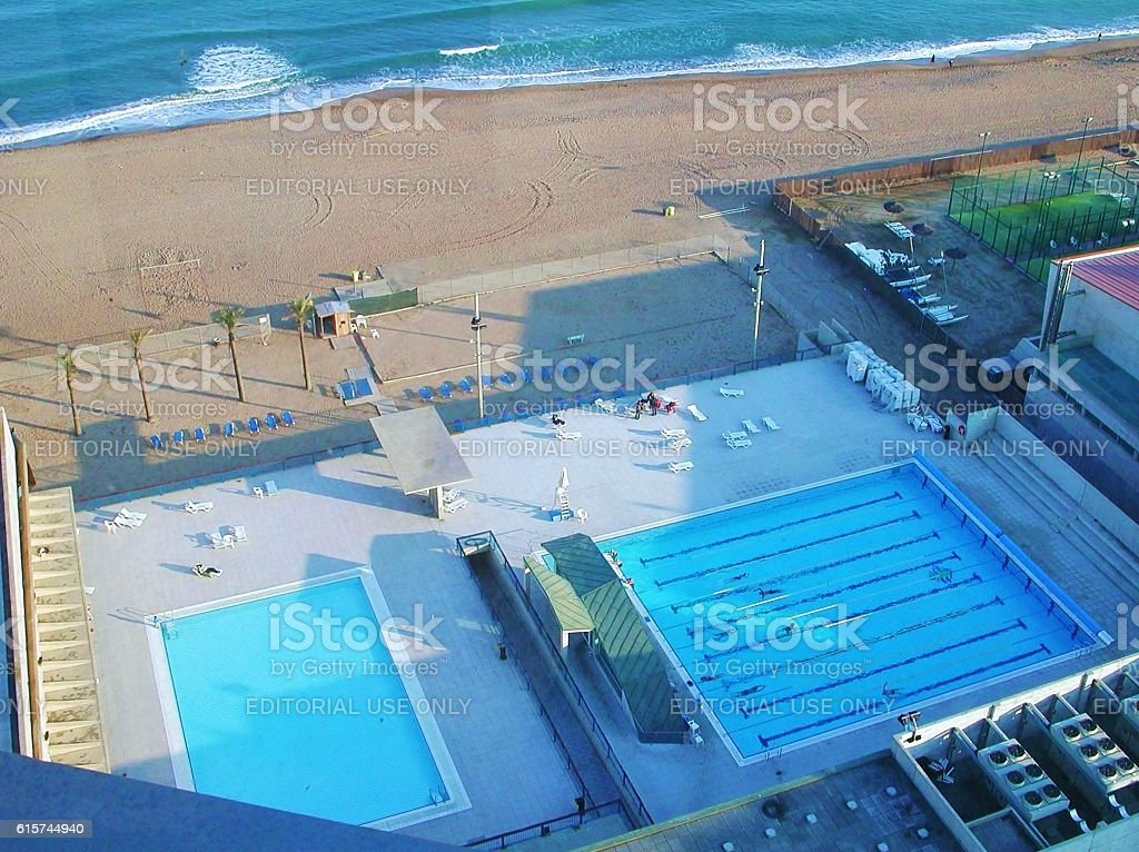 Piscine del Club Natacio Atletic Barceloneta stock photo
