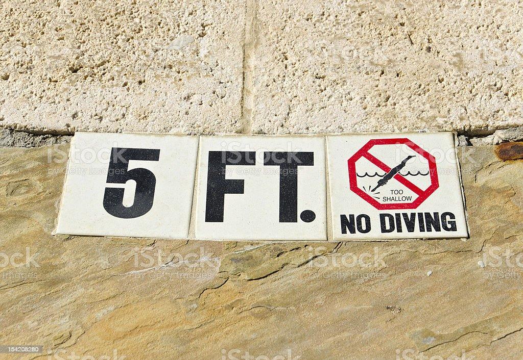 5FT Pool Depth stock photo