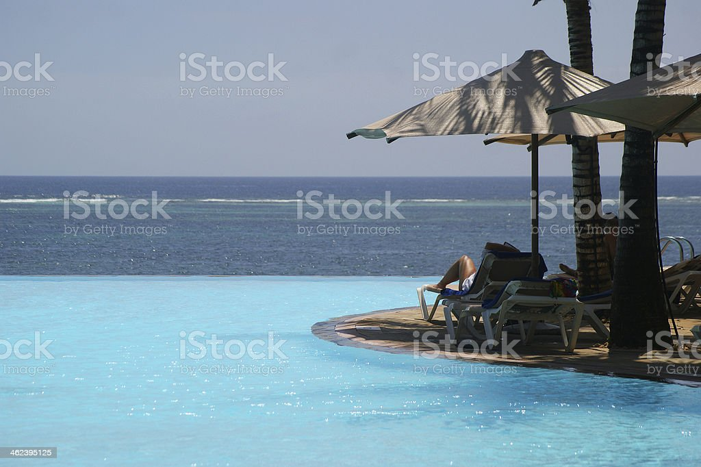 Pool. Diani Beach, Indian Ocean stock photo
