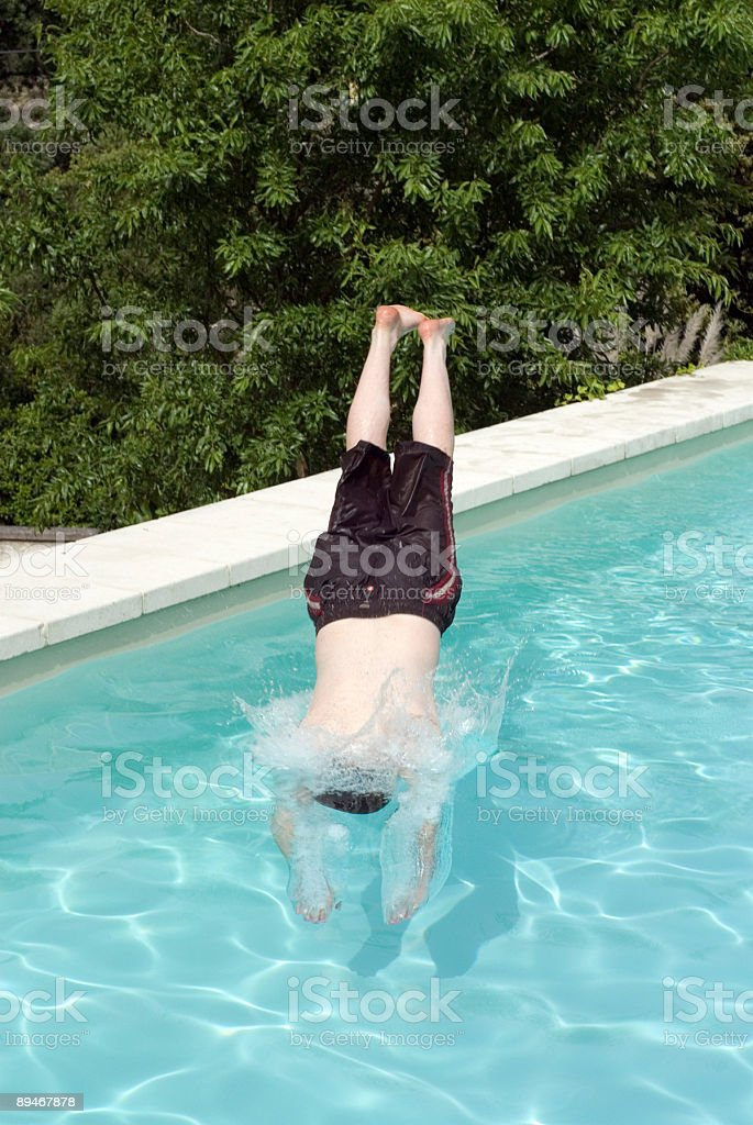 Pool Dive royalty-free stock photo