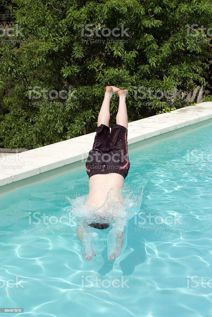 Pool Dive stock photo