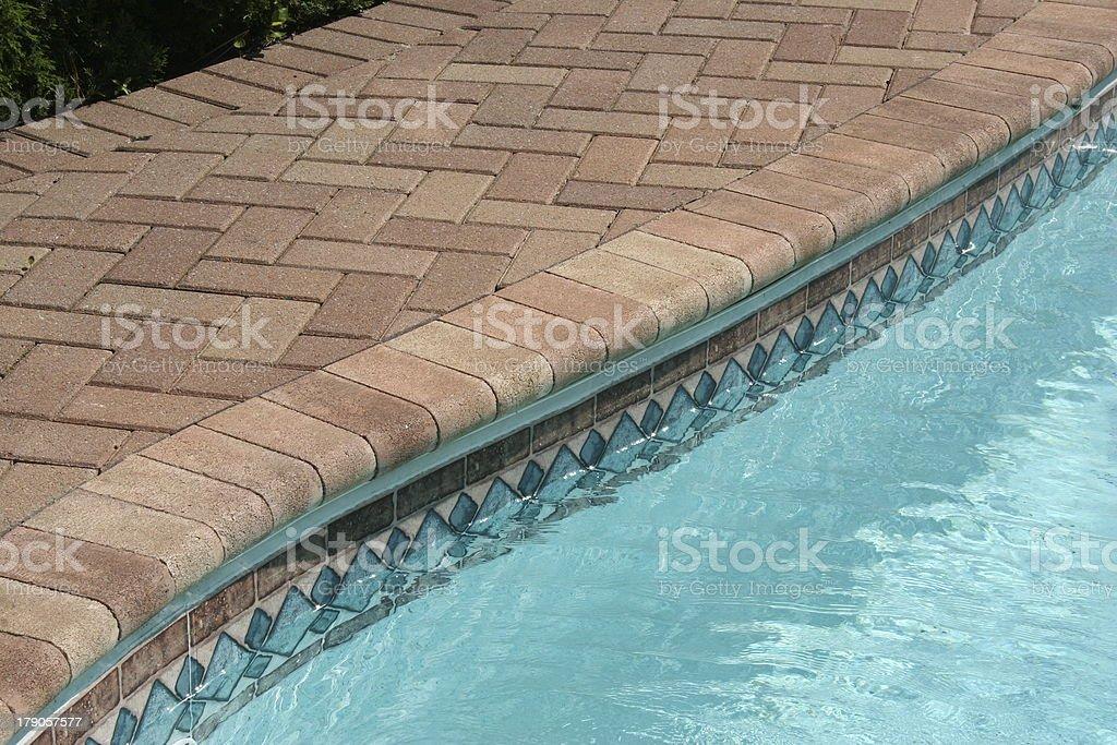 Pool Edge 2 stock photo