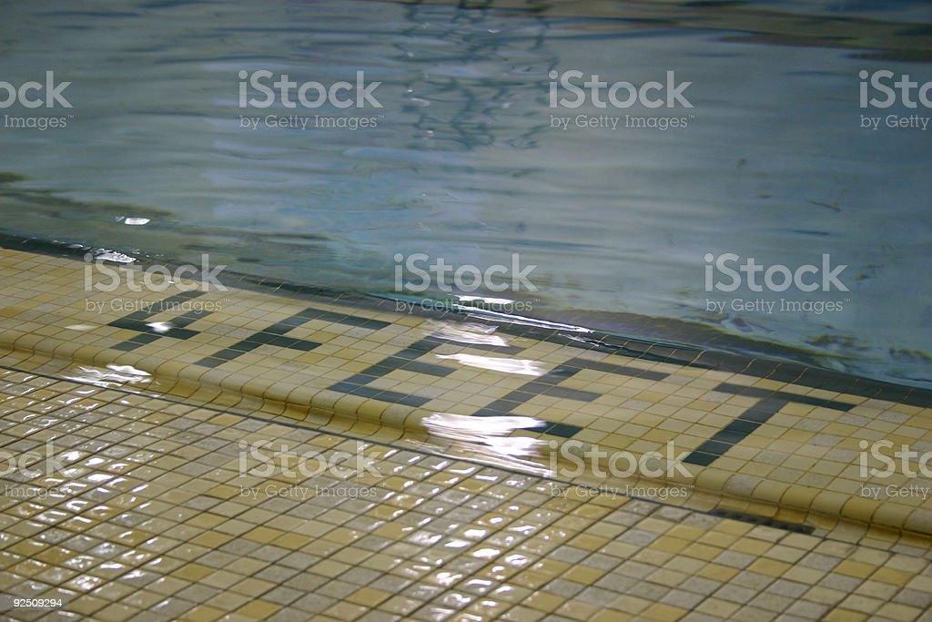 pool edge 4feet stock photo