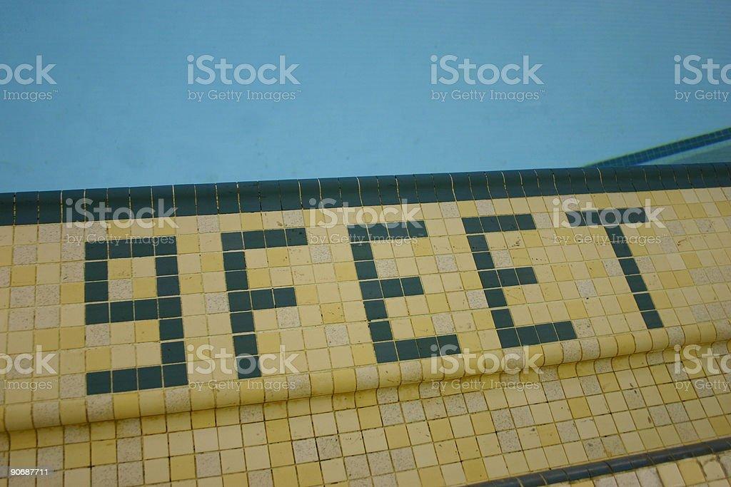 pool edge 9feet stock photo