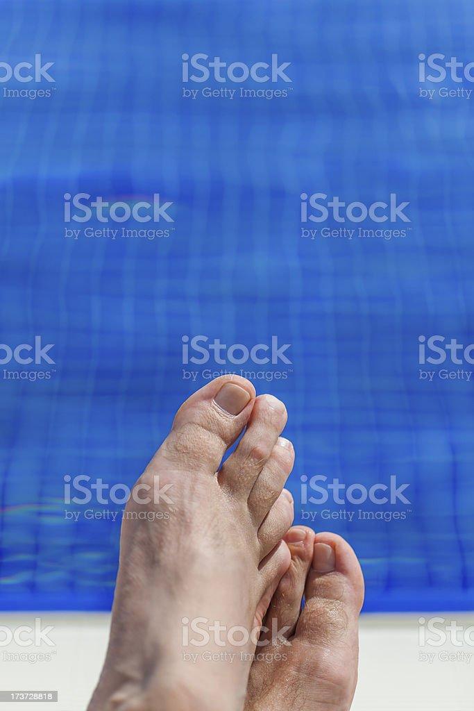 pool feet royalty-free stock photo