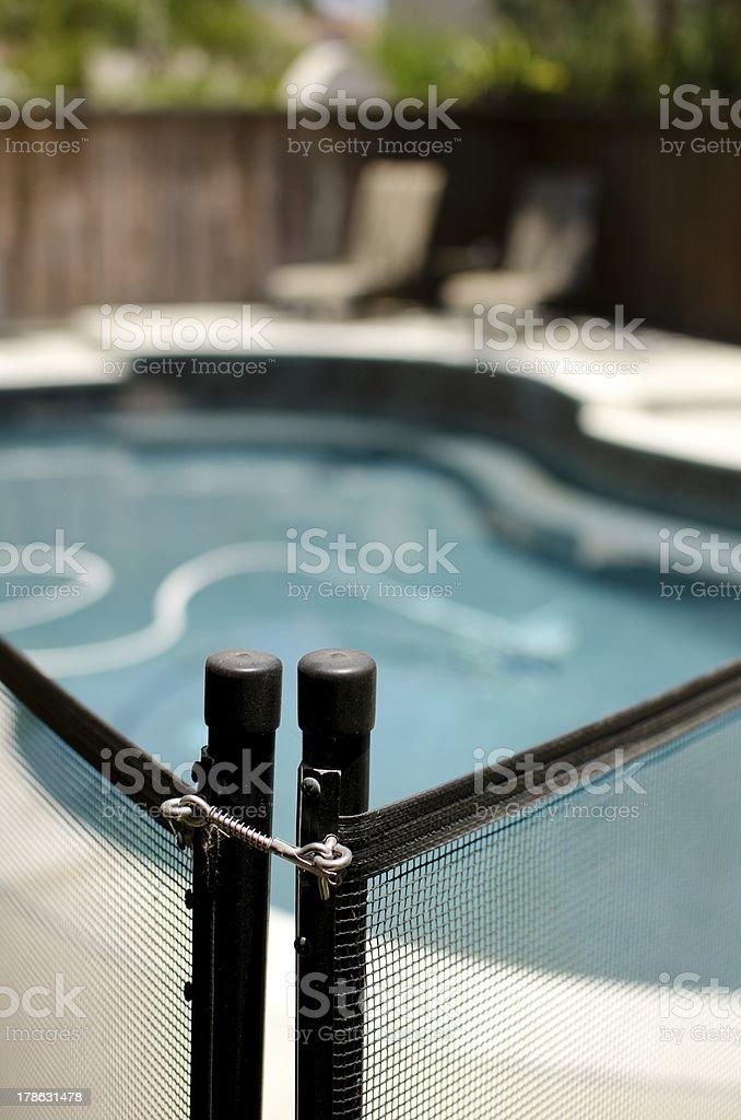pool fence stock photo