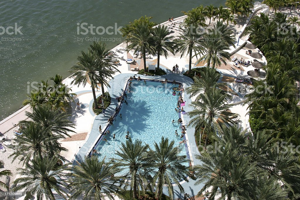 Pool from above royalty-free stock photo