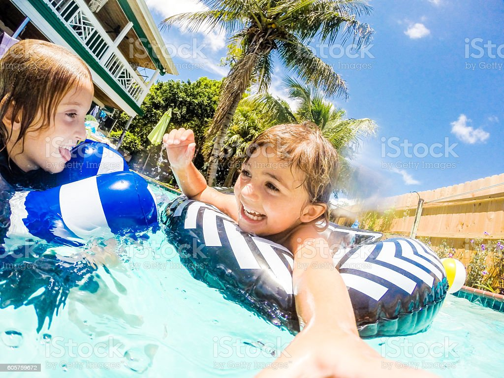 Pool Fun stock photo