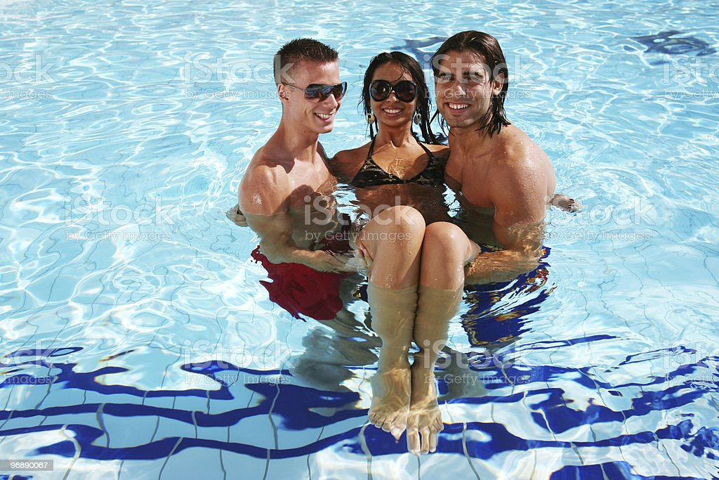 pool fun royalty-free stock photo
