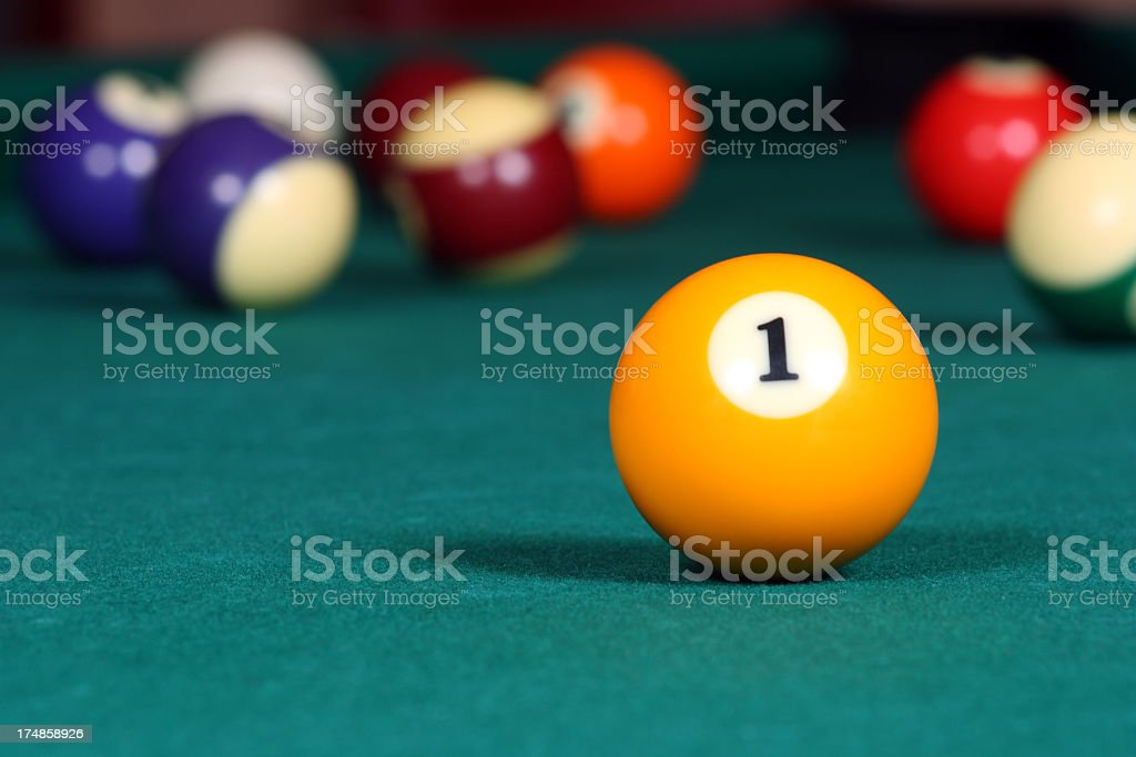 Pool game balls on the table royalty-free stock photo