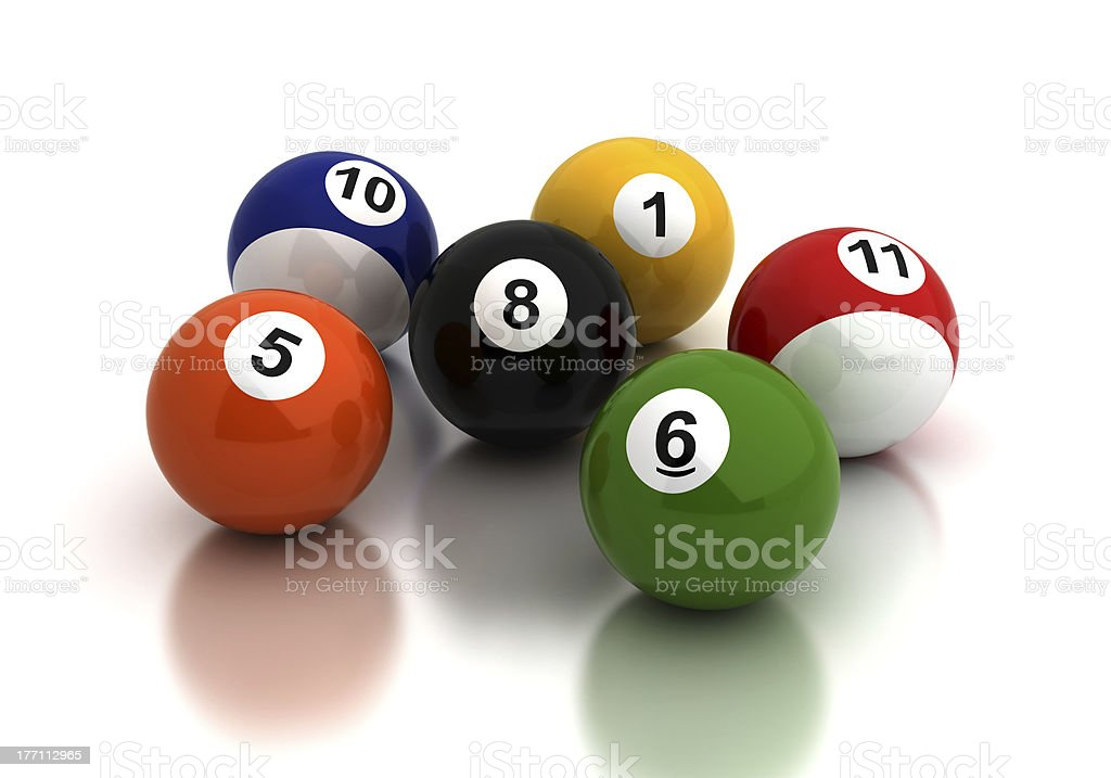 Pool Game Balls stock photo