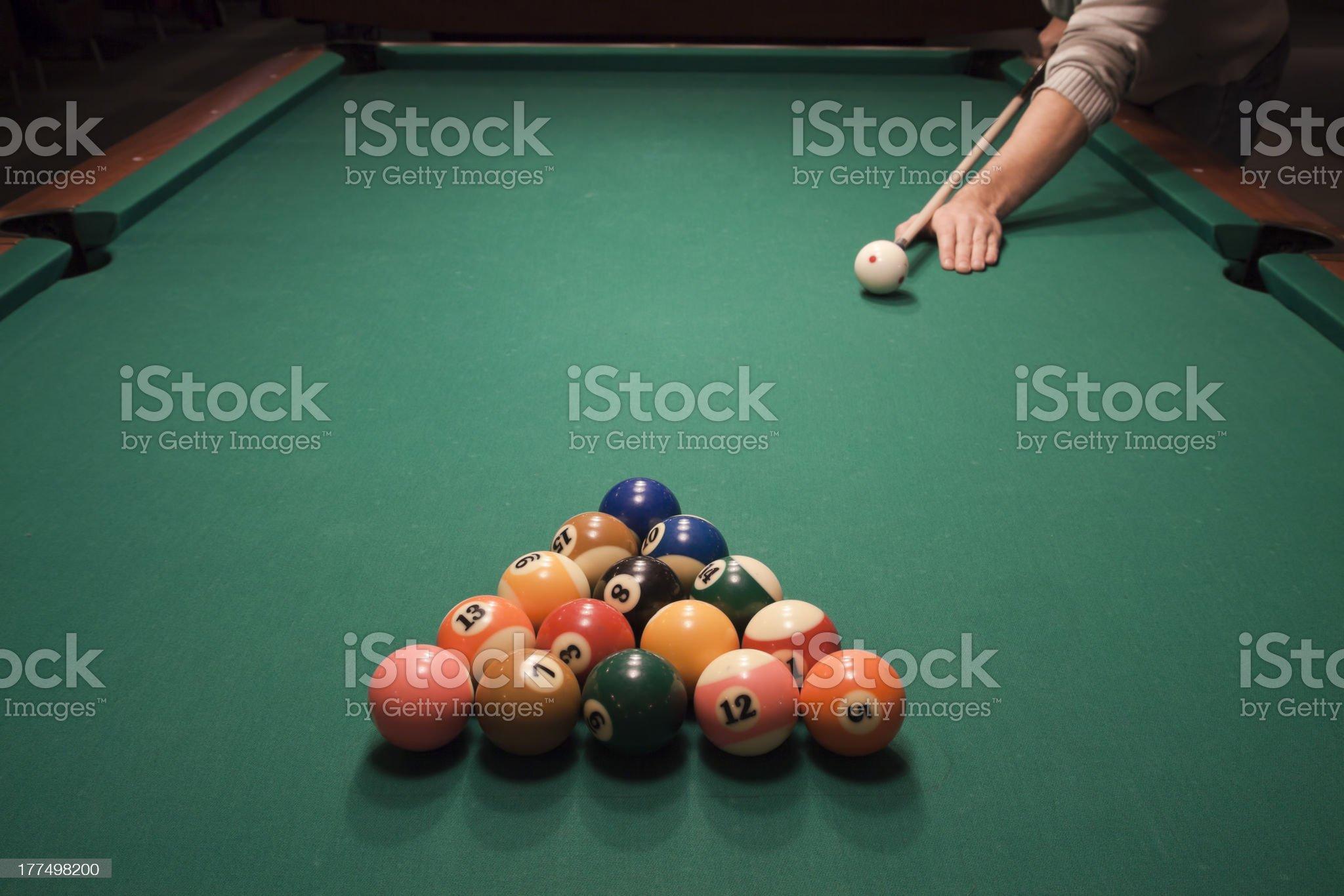 Pool (billiard) game royalty-free stock photo