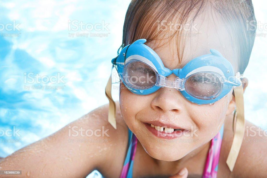Pool girl royalty-free stock photo