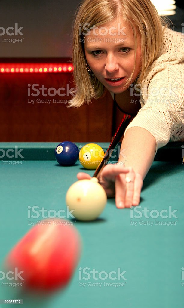 Pool Hall Series: Motion. royalty-free stock photo