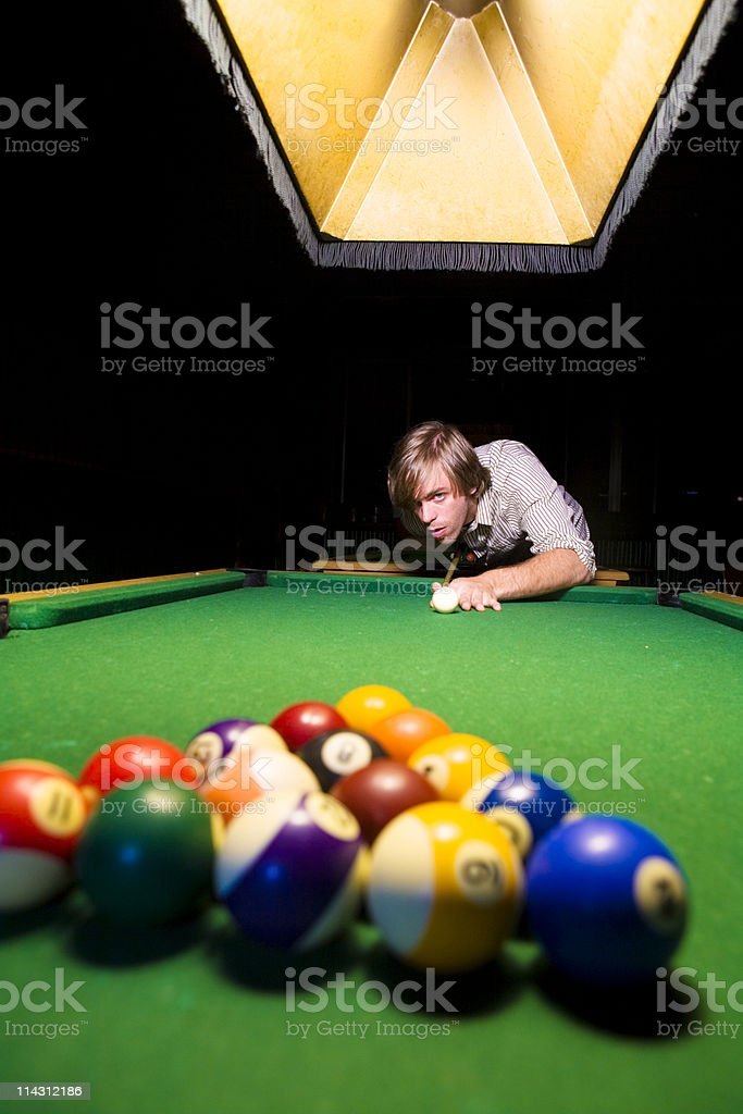 Pool hustler stock photo