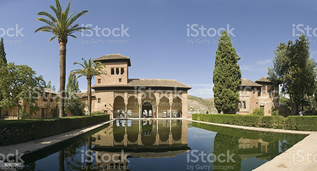 Pool In Alhambra royalty-free stock photo