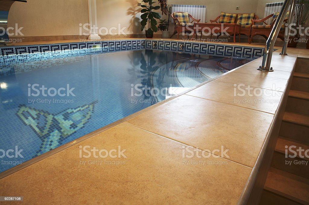 pool in modern hotel royalty-free stock photo