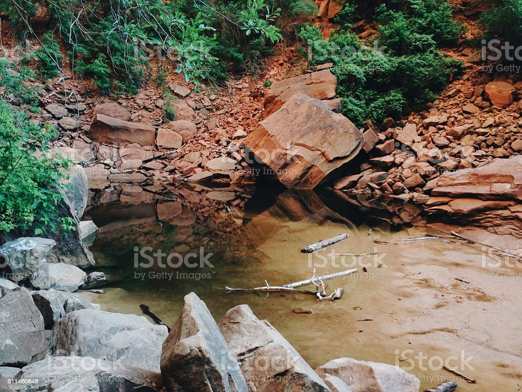 Pool in the Sandstone royalty-free stock photo