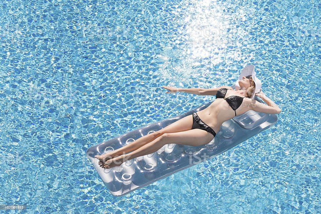 Pool Joy stock photo