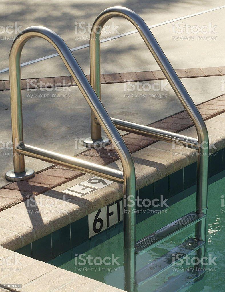 Pool Ladder at Florida Hotel royalty-free stock photo