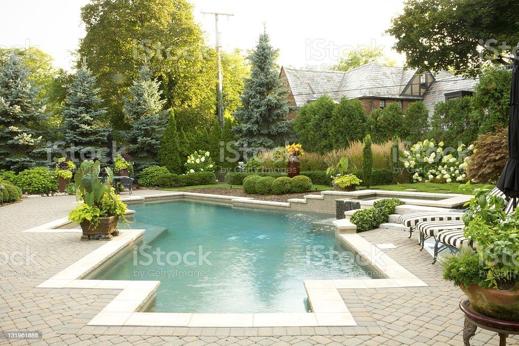 Pool Landscape royalty-free stock photo