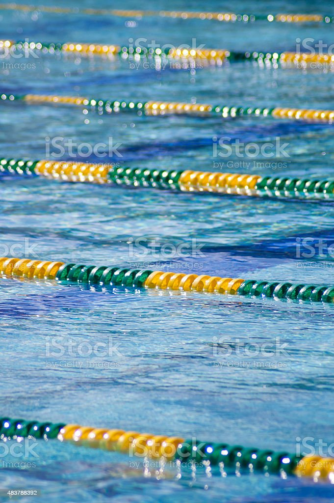 Pool Lane Lines stock photo