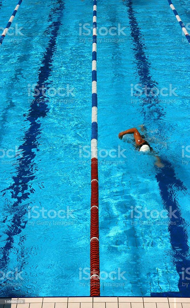 Pool lane vertical royalty-free stock photo