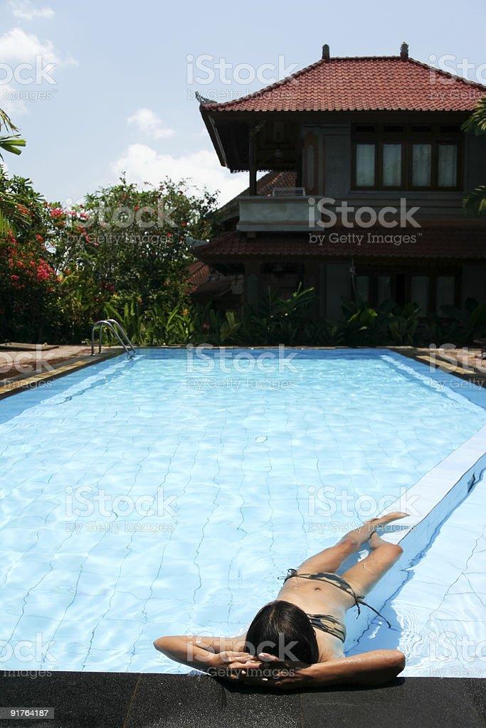 pool life bali royalty-free stock photo