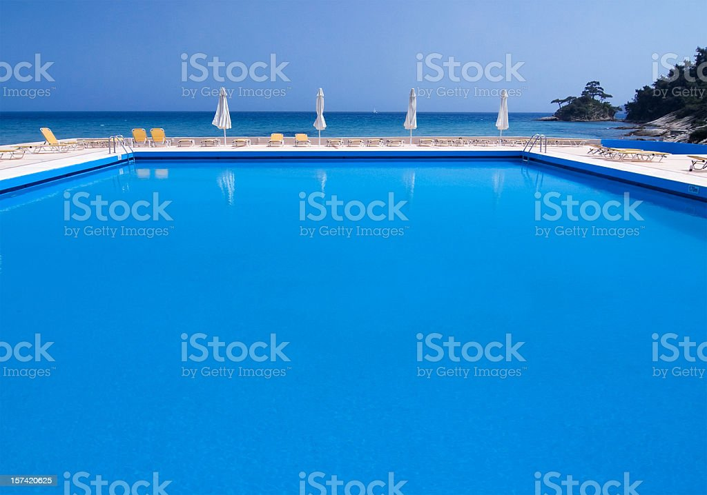 Pool near the Sea royalty-free stock photo