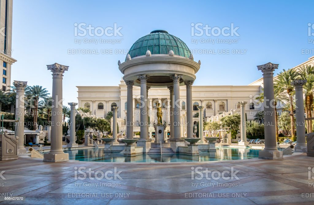 Pool of Caesars Palace Hotel and Casino - Las Vegas, Nevada, USA stock photo