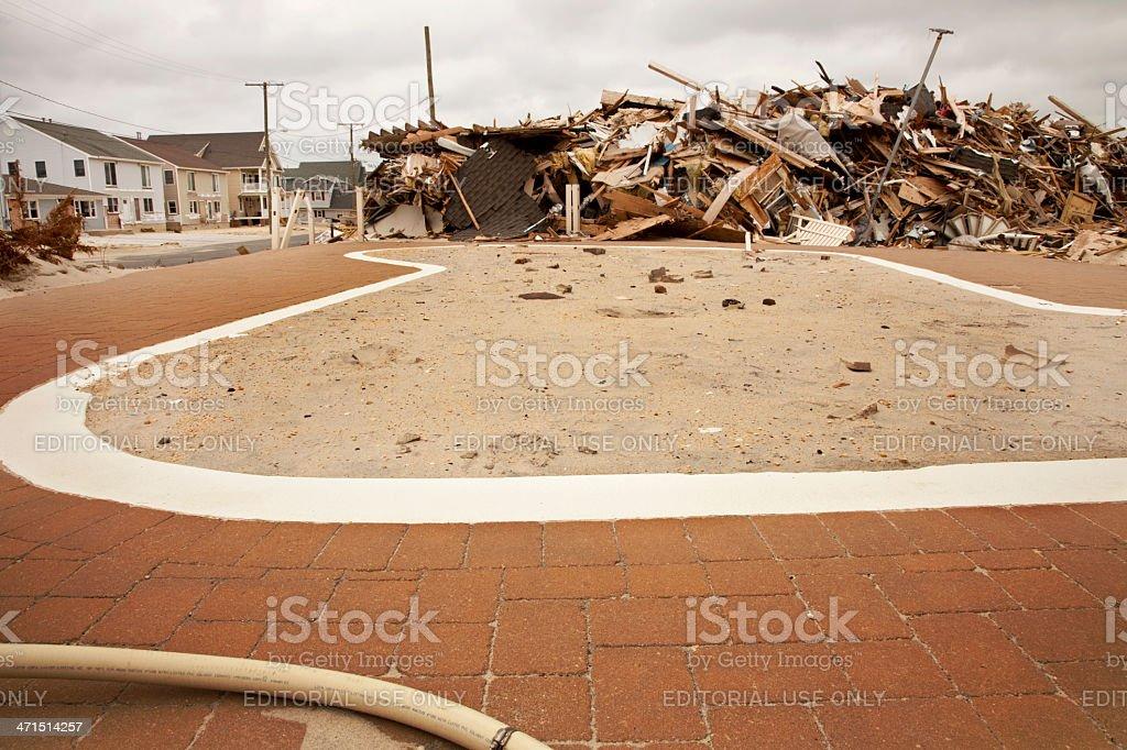 Pool of Sand stock photo