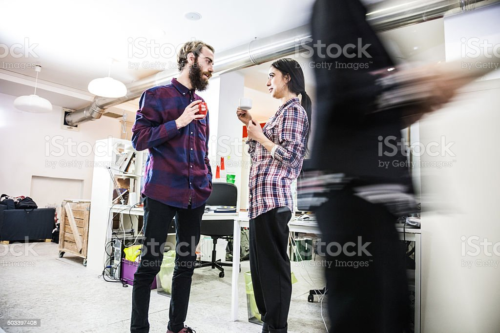 Pool of young creative in business stock photo
