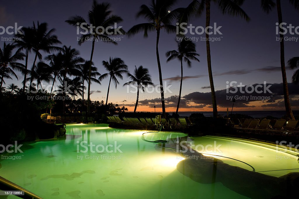 Pool On Beach royalty-free stock photo