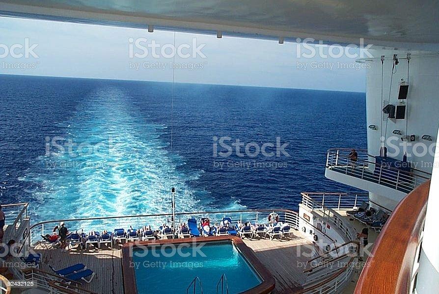 Pool on Cruise ship royalty-free stock photo