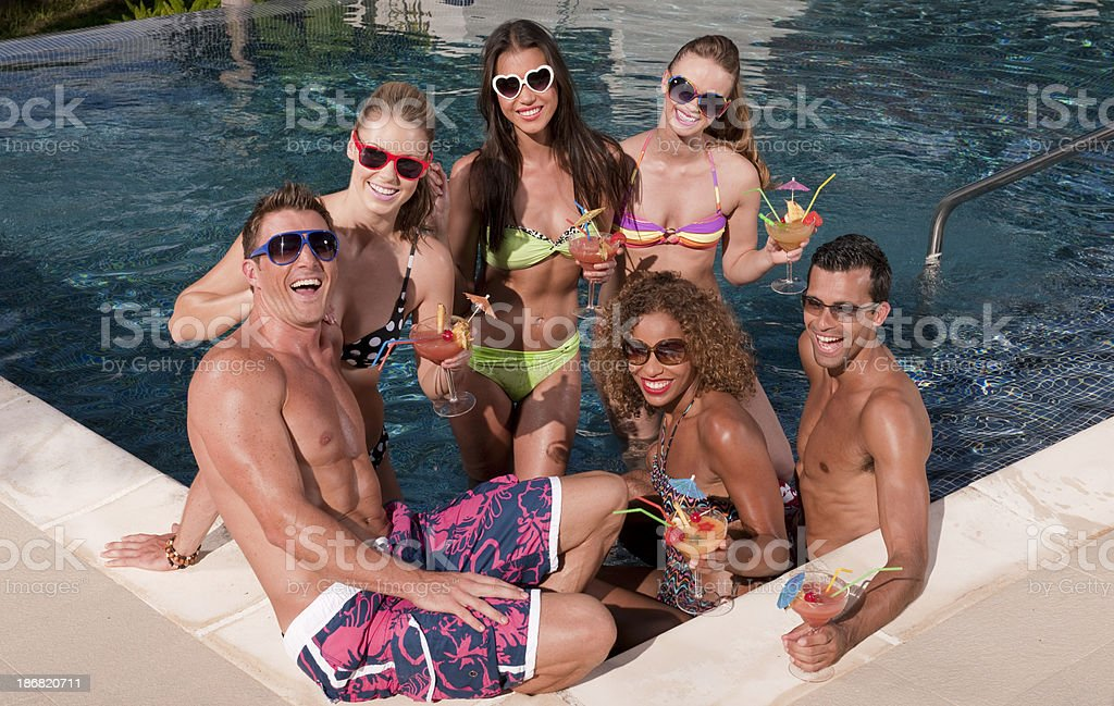 Pool Party royalty-free stock photo