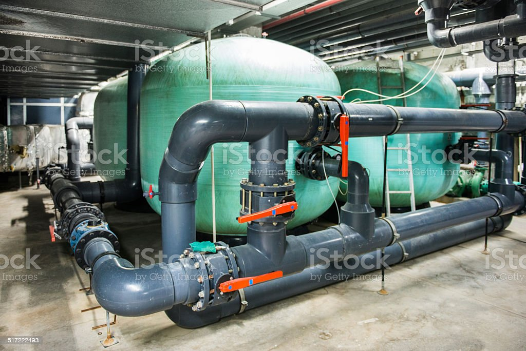 Pool Purification System stock photo