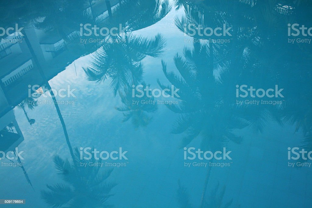 Pool reflection stock photo