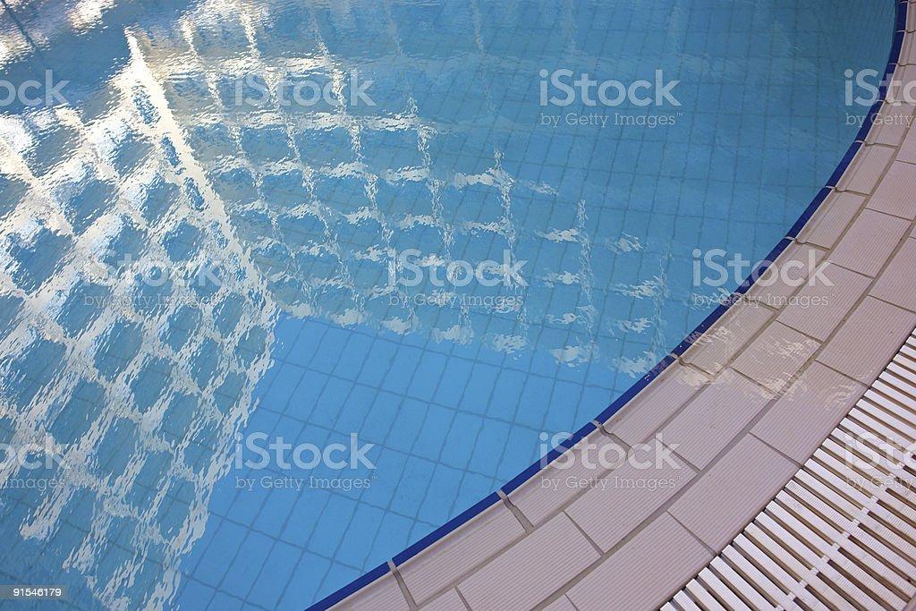 Pool reflection royalty-free stock photo