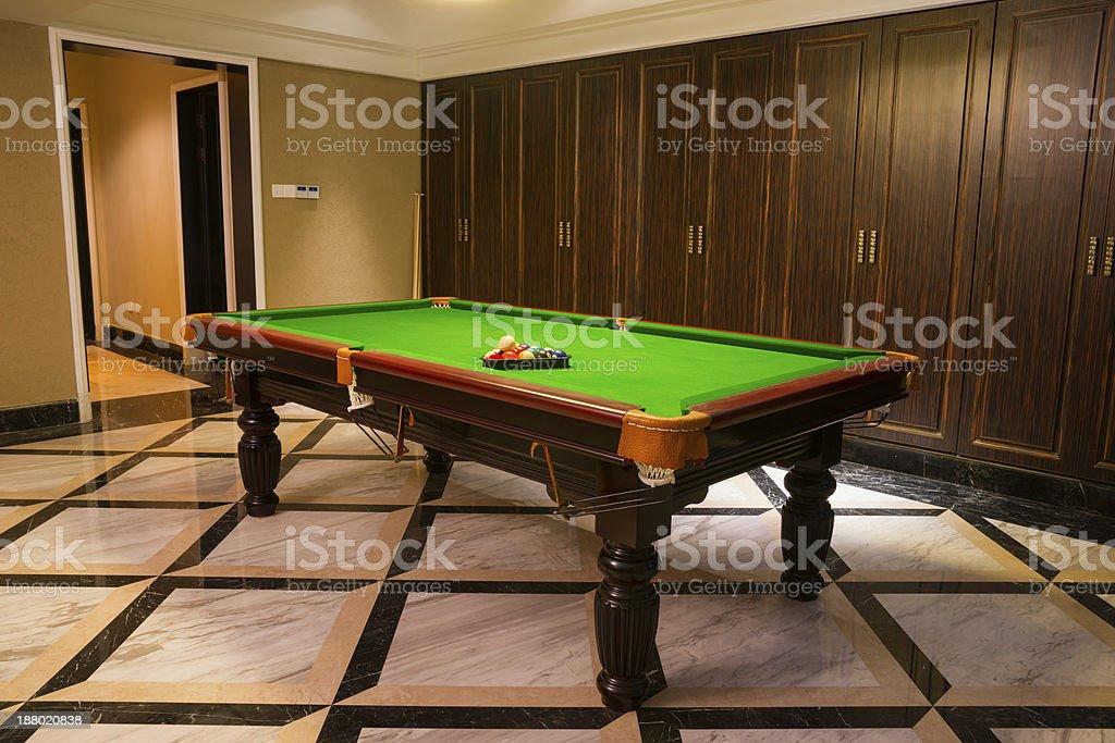 pool room stock photo