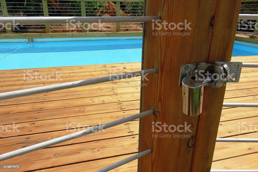 Pool safety stock photo