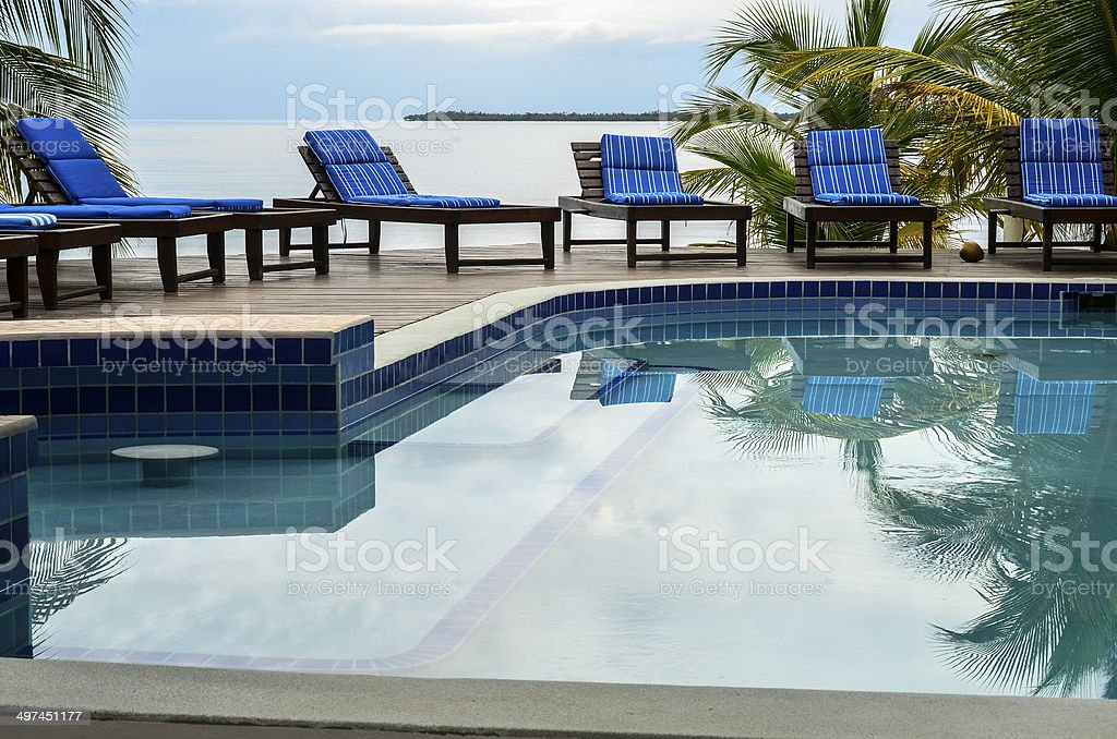 Pool Scene stock photo