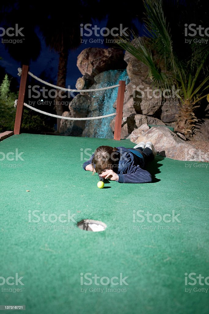 Pool Shot For Minature Golf royalty-free stock photo