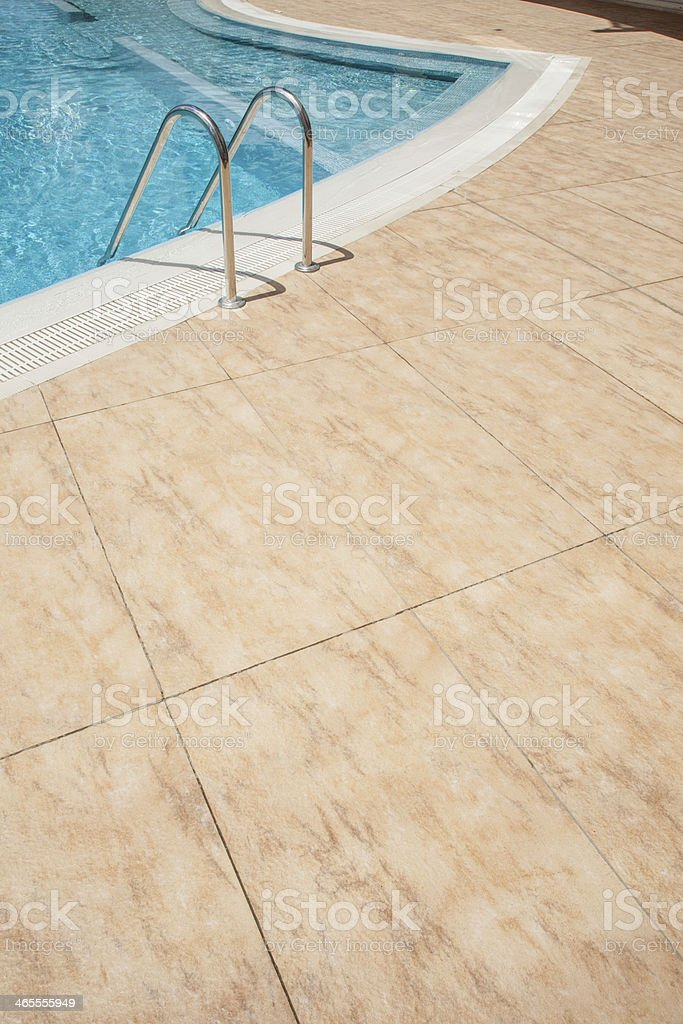Pool side floor royalty-free stock photo