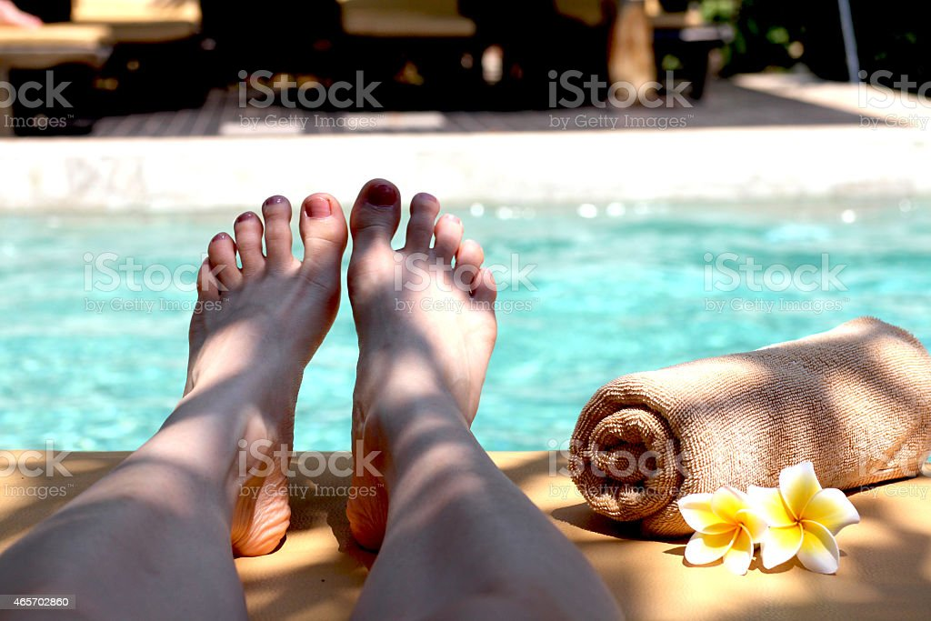 Pool spa and massage stock photo