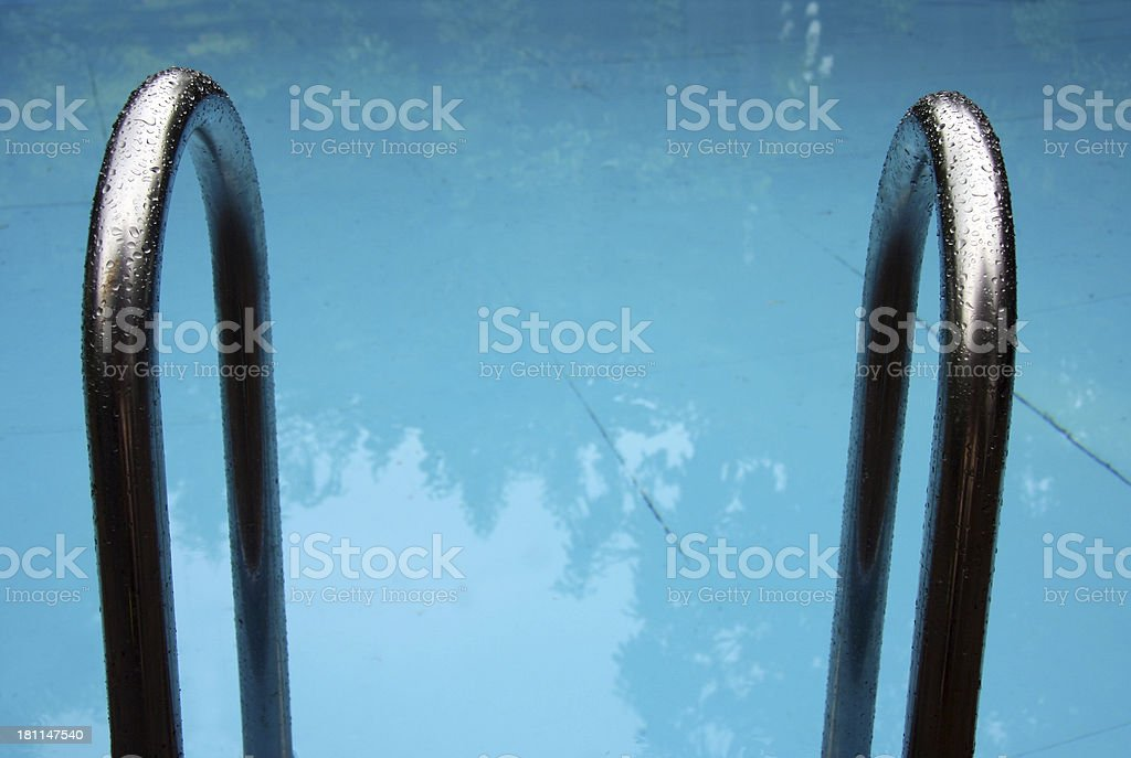 Pool stairs royalty-free stock photo